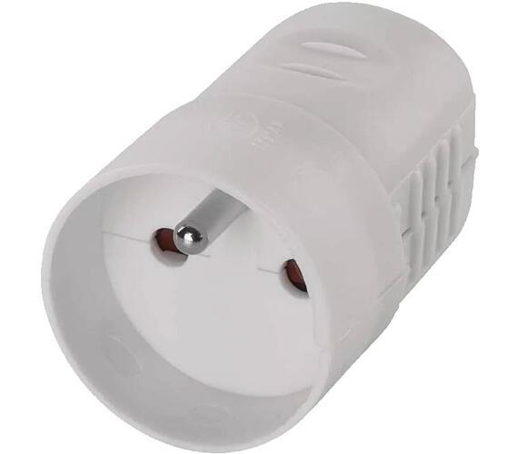 Zásuvka bílá pro prodlužovací kabel