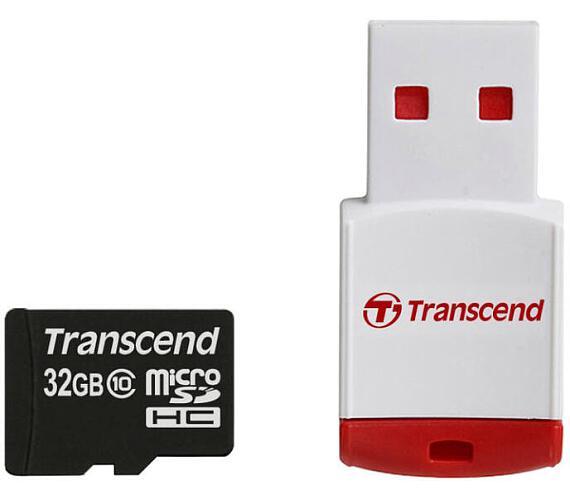Transcend MicroSDHC 32GB + USB čtečka