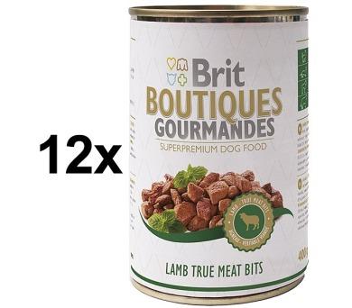 Brit Boutiques Gourmandes Lamb True Meat Bits 12 x 400g