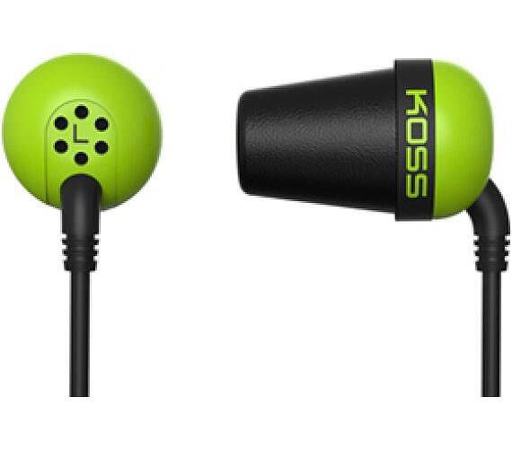 Koss The Plug (doživotní záruka) - zelená + DOPRAVA ZDARMA