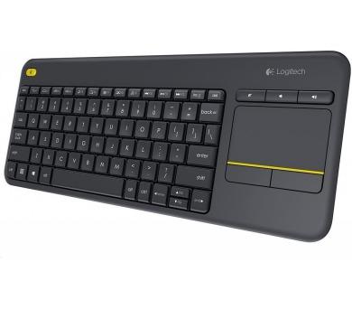 Bezdrátová klávesnice Logitech® Wireless Touch Keyboard K400 Plus CZ