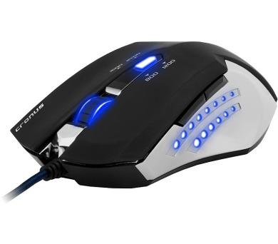 C-Tech Cronus / optická / 6 tlačítek / 2400dpi - černá/modrá