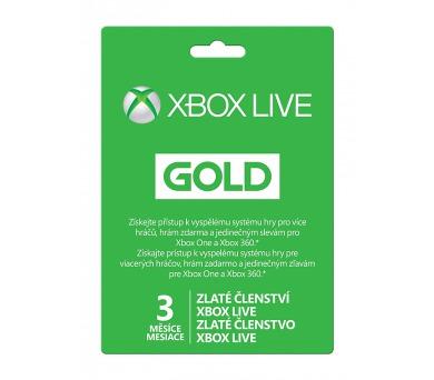 Microsoft Xbox LIVE Gold - zlaté členství 3 měsíce + DOPRAVA ZDARMA