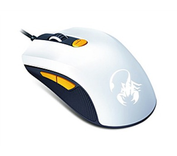 Genius GX Gaming Scorpion M8-610 / optická / 6 tlačítek / 8200dpi - bílá/žlutá