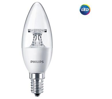 Philips - elektronika LED žárovka Philips E14 5,5-40W 2700K 230V B35 CL P454794