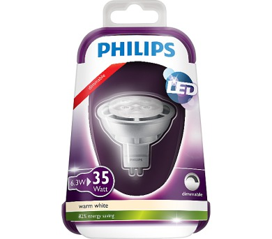 LED 35W GU5.3 WW 12V MR16 36D Silver Dim/4 Massive 8718696490334