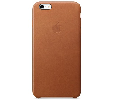 Apple Leather Case pro iPhone 6 Plus / 6s Plus - sedlově hnědá