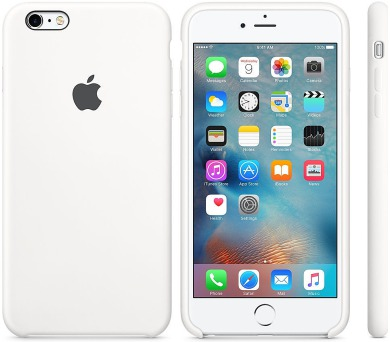Apple Silicone Case pro iPhone 6S Plus - White