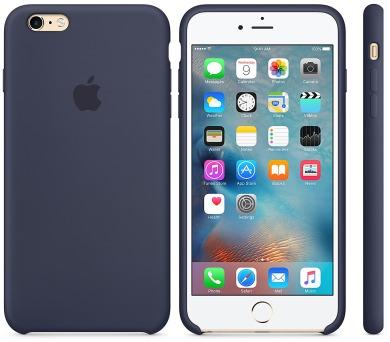 Apple Silicone Case pro iPhone 6 Plus / 6s Plus - midnight Blue