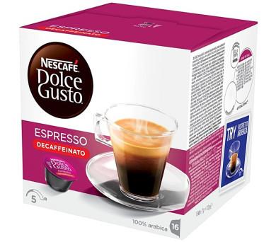 NESCAFÉ Espresso bez kofeinu 16 ks k Dolce Gusto