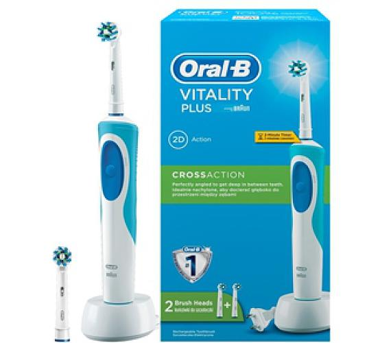 Oral-B D12 Vitality 2D se dvěma koncovkami Cross Action + DOPRAVA ZDARMA