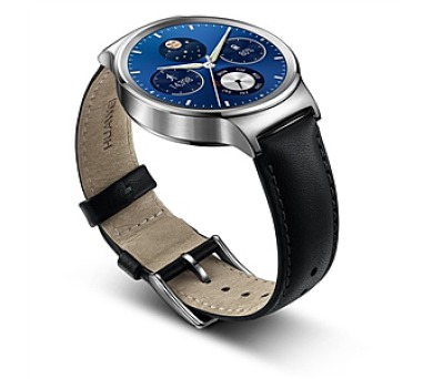 Huawei Watch W1 Stainless Steel + Black Leather + DOPRAVA ZDARMA