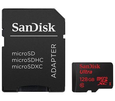 Sandisk Micro SDXC UltraAndroid 128GB UHS-I U1 (80R/10W) + adapter