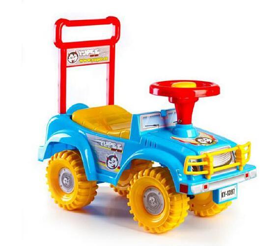 Odrážedlo auto Yupee modré 53,5x48,3x26cm v krabici od 12 do 35 měsíců