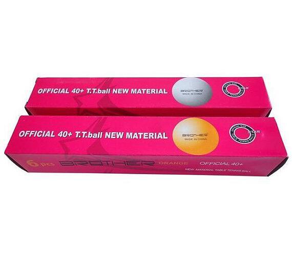 ACRA G1807-40 míčky na stolní tenis 6ks 40mm