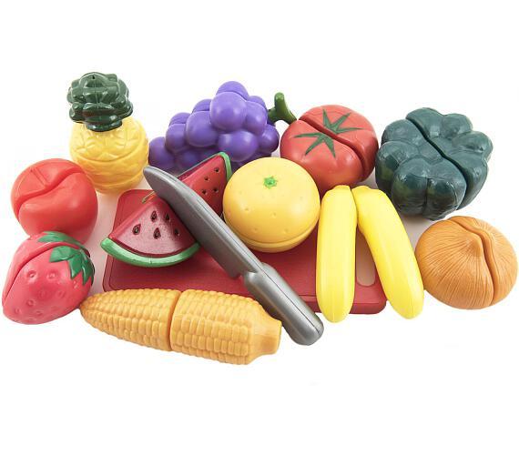 Ovoce a zelenina krájecí 40x27x6cm s náčiním plast 25ks v krabici