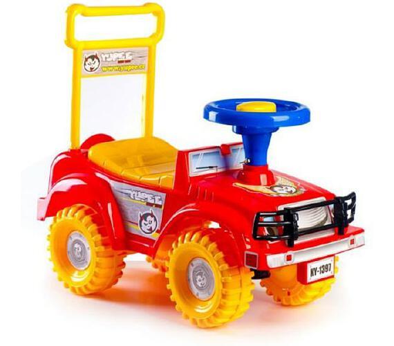 Odrážedlo auto Yupee červené 53,5x48,3x26cm v krabici od 12 do 35 měsíců + DOPRAVA ZDARMA