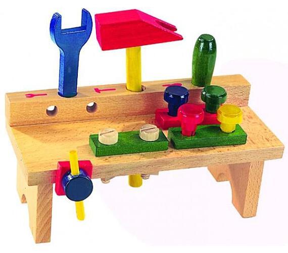 Stůl s nářadím dřevo 8ks v krabici 25x14x12cm + DOPRAVA ZDARMA