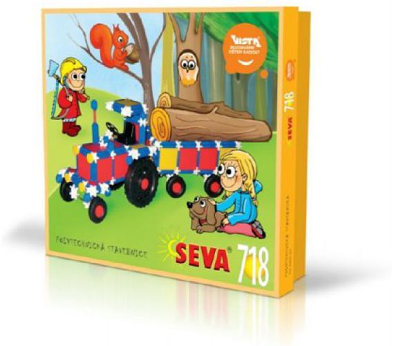 Stavebnice Seva plast 718ks v krabici 35x33x8cm + DOPRAVA ZDARMA