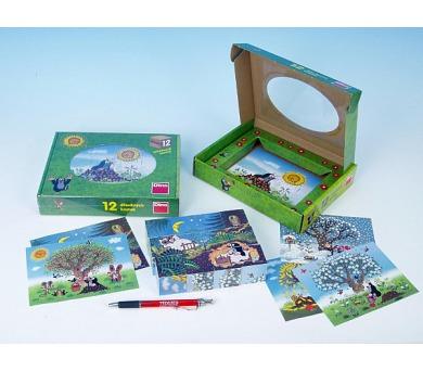 Kostky kubus Krtek/Krtečkův rok dřevo 12ks v krabičce 22x17x4cm + DOPRAVA ZDARMA