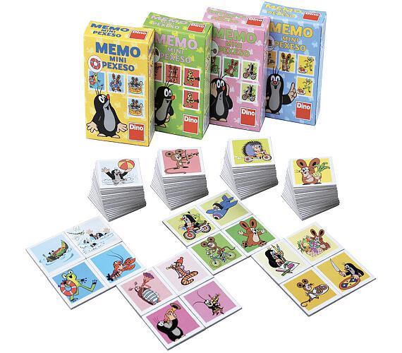 Minipexeso Krtek 6,5x9cm společenská hra v papírové krabičce 40ks v boxu