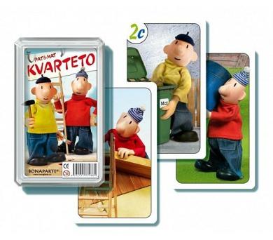 Kvarteto Pat a Mat I společenská hra - karty v plastové krabičce 6x2cm