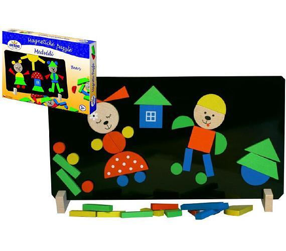 Detoa Magnetické puzzle Medvědi v krabici 33x23x3,5cm