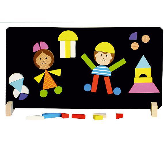 Magnetické puzzle děti v krabici 33x23x3,5cm