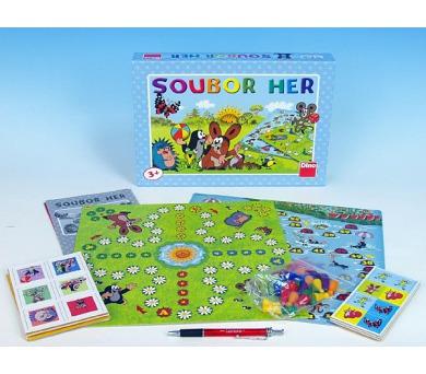 Krtek Soubor her 6 her společenská hra pro nejmenší v krabici 33x23x3,5cm