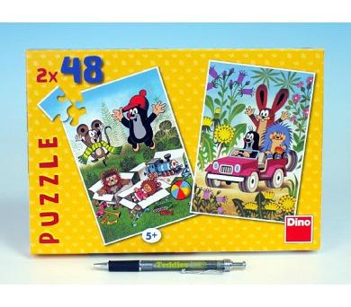 Puzzle Krtek se raduje 18,1x26,4cm 2x48 dílků v krabici 27x19x3,5cm