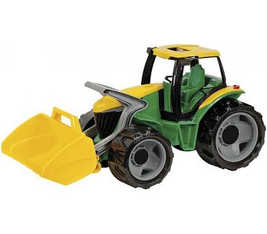 Traktor se lžící plast zeleno-žlutý 65cm v krabici od 3 let + DOPRAVA ZDARMA
