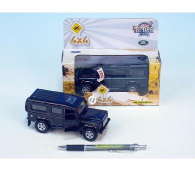 Auto Land Rover kov na zpětné natažení na baterie se zvukem se světlem asst 3 barvy v krabičce