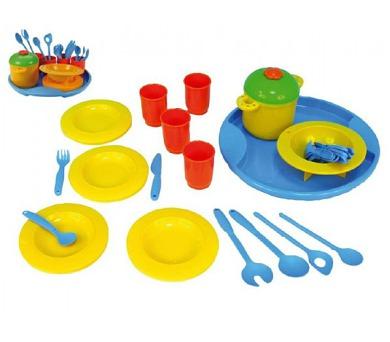 Nádobí Jídelní sada Bon Appétit podnos + doplňky plast