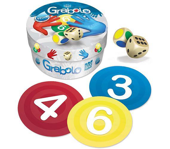 Grabolo společenská hra v plechové krabičce 8x8x5cm 8ks v boxu