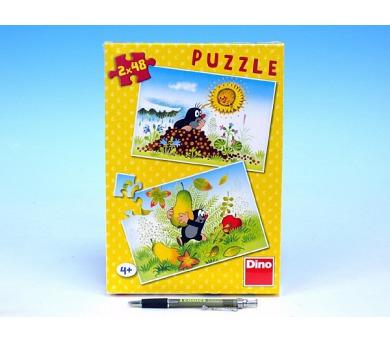 Puzzle Krtek Krtkův svět 26,4x18,1cm 2x48 dílků v krabici 27x19x3,5cm