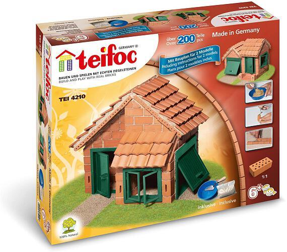 Stavebnice Teifoc Domek Albert 200ks v krabici 35x29x8cm + DOPRAVA ZDARMA