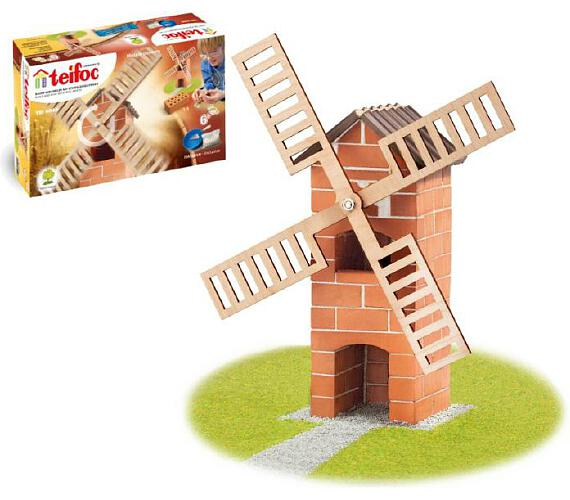 Stavebnice Teifoc Větrný mlýn v krabici 29x18x8cm + DOPRAVA ZDARMA