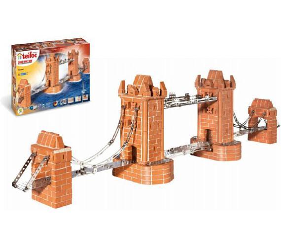 Stavebnice Teifoc Tower Bridge 1000ks v krabici 55x37x15cm
