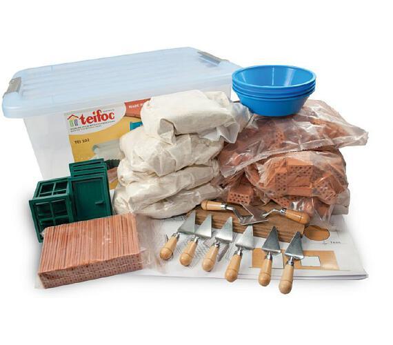 Stavebnice Teifoc School Set v plastovém boxu s úchyty 39x19x29cm