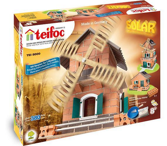 Stavebnice Teifoc Mlýn - solární pohon 380ks v krabici 44x33x11cm + DOPRAVA ZDARMA