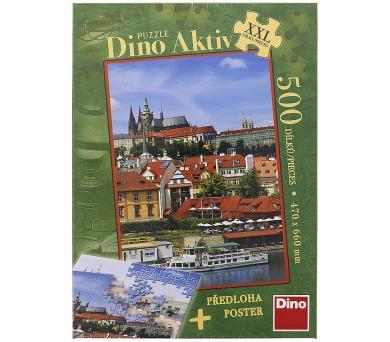 Puzzle Pražský hrad XXL 47x66cm 500 dílků + Plakát v krabici 27x37x5,5cm