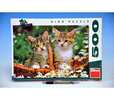 (C) Puzzle Dvě koťátka 47x33cm 500 dílků v krabici