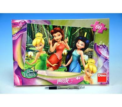 Puzzle Zvonilka/Fairies 32,3x22cm 66 dílků v krabici 33x23x3,5cm
