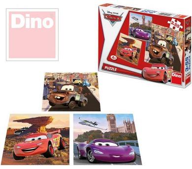 Puzzle Cars v akci 18x18cm 3x55 dílků v krabici 27x19x3,5cm
