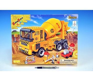 Stavebnice BanBao Auto Míchačka stavební 315ks + 3 figurky v krabici 37,5x28,5x6cm + DOPRAVA ZDARMA