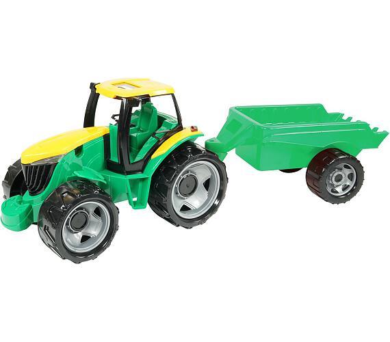 Traktor plast bez lžíce a bagru s vozíkem v krabici 71x35x29cm + DOPRAVA ZDARMA
