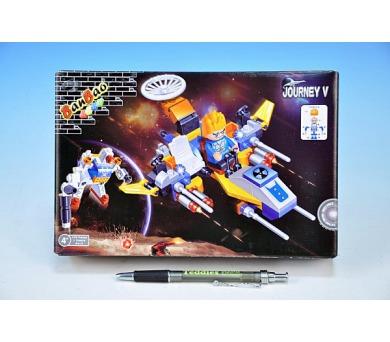 Stavebnice BanBao Vesmírná loď 139ks + 1 figurka v krabici 23x15x5cm