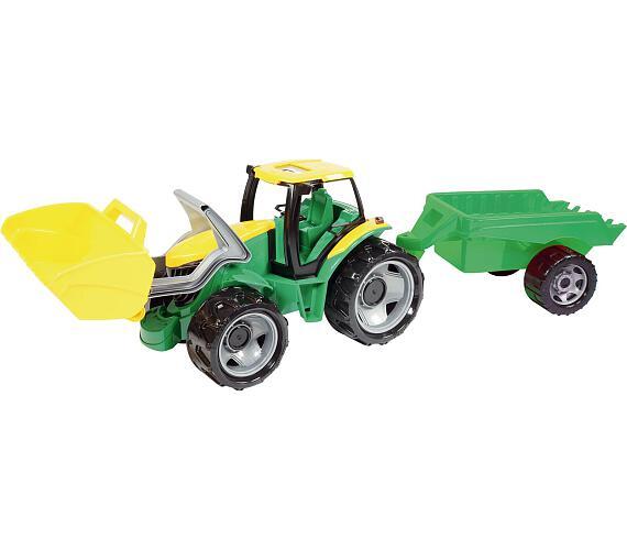 Traktor se lžící 60cm a přívěsem 45cm plast v krabici + DOPRAVA ZDARMA