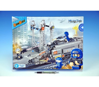 Stavebnice BanBao Vlak hrdinů 385ks + 4 figurky v krabici 40x30x7cm + DOPRAVA ZDARMA
