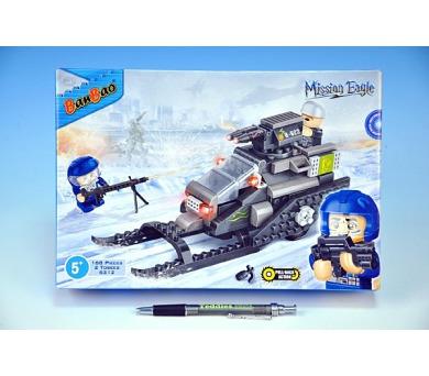 Stavebnice BanBao Skútr sněžný na zpěný chod 168ks + 2 figurky v krabici 28x19x5,5cm + DOPRAVA ZDARMA